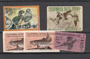 California Duck Hunting Fishing Stamps Used See Picture