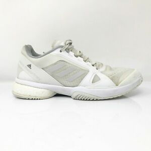 Adidas Womens Stella Mccartney Barricade Boost BY1621 White Running Shoes Size 7 $52.49