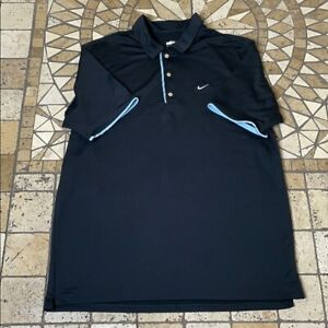 Nike XL Fit Dry short sleeve golf shirt blue XL $21.88