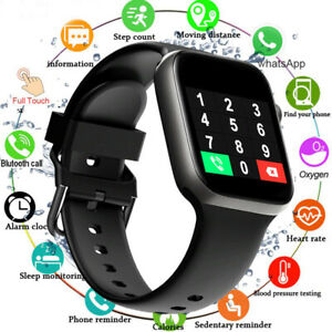 Waterproof Full Touch Men And Women Smart Sport Fitness iOS Android Wristwatch $34.99