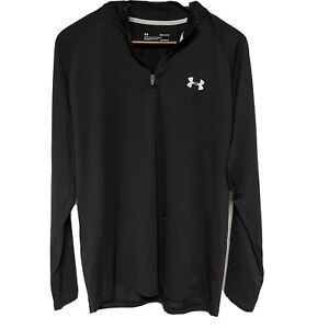 Under Armour Loose Fit Heat Gear 1 4 Zip Athletic Men's Medium Long Sleeve Black $21.95
