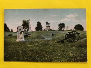 GETTYSBURG PA * CIVIL WAR BATTLEFIELD * EAST CEMETERY HILL Rotograph View $19.35