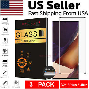 3 PACK For Samsung Galaxy S21 PLUS ULTRA Tempered Glass Screen Protector Clear $7.89