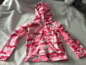 Pink Camouflage Girls Top Sz 5 JUMPING BEAN FLEECE PULLOVER With HOOD