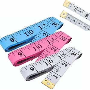 Body Measuring Tape Ruler Sewing Cloth Tailor Measure Soft Flat 60 inch 150 cm $1.49