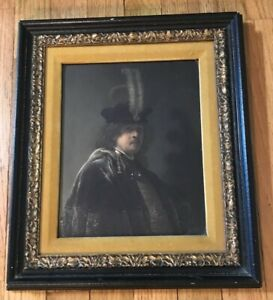 1910 GERMAN LITHOGRAPH OF REMBRANDT $150.00