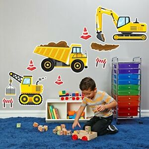 BirthdayExpress Construction Party Decorations Giant Vinyl Wall Decal
