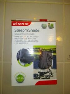 Diono Sleep n Shade Baby Carriage Stroller Solar Insect Cover Black Sun $3.50