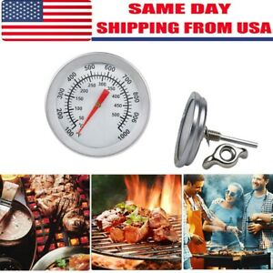 Stainless Steel Pocket Probe Thermometer Gauge for Food Cooking Meat BBQ Silver