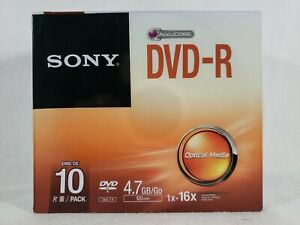 SONY DVD R AccuCore 10 Individual Case Pack 16X 4.7GB Go 120 Min Optical Media