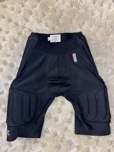 Mens Size Small Under Armour MPZ Padded Black Compression Athletic Shorts Pants $10.10