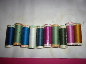 10 NEW GUTERMANN SEWING THREADS IN A VARIETY OF COLORS 110 YDS PER SPOOL LT 3 $15.00