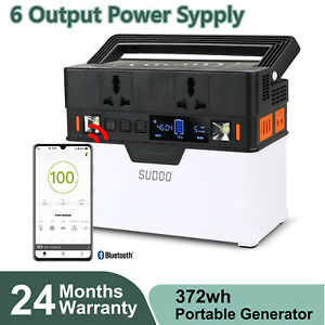 372Wh Portable Power Station Portable Generator Solar Emergency Power Supply US
