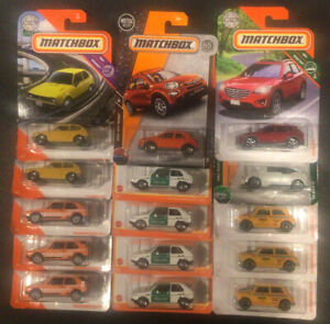 """Matchbox """"GAS SAVERS"""" Mixed Lot Of 15 Fuel Efficient small cars."""