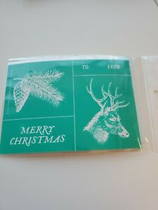 Chalk Couture Transfer Size A Merry Christmas Tag Deer NEW $14.99
