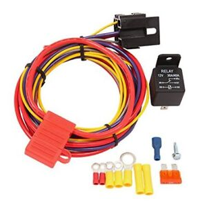 Electric Fuel Pump Relay Wire Kit Holley Quick Fuel 30 199 $43.48