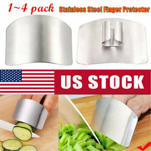 Stainless Steel Finger Guard Kitchen Finger Protector Slice Tool Dicing Slicing $5.58
