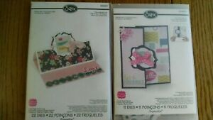 2 Sizix die cuts pop up card and flip it cards Hello and tags scrapbooking cards