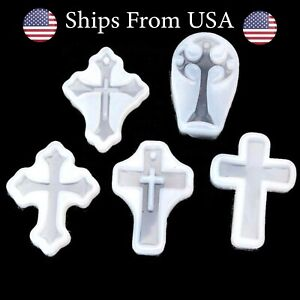 Cross Resin Mold Silicone Cross Mold DIY Keychain Necklace Earrings $2.95