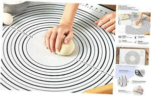 Pastry Mat for Rolling Dough 20x16 Large Silicone Pastry Kneading Mat Board w