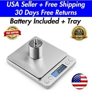 Digital Scale 2000g x 0.1g Kitchen Food Gram Scale Electronic Weight Pocket Size