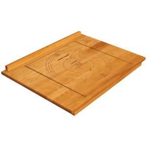 Reversible Wooden Pastry Cutting Board w Pastry Measurement Guide Honey Finish
