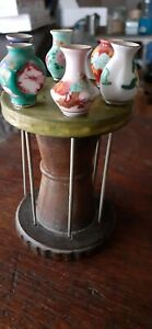 Chinese antique sewing spool holder or hair pins hand made painted miniatures. $65.00