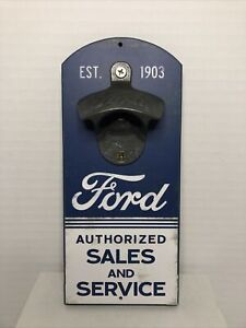 Open Road Brands Ford Wall Bottle Opener Wooden Vintage Design NEW 8quot; x 3 1 2quot; $8.88