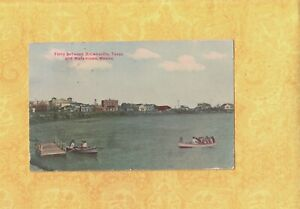 TX Brownsville 1908 29 vintage postcard FERRY BROWNSVILLE amp; MATAMOROS MEXICO