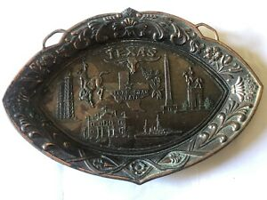 🇺🇸Texas 🇺🇸collectors Wall Plate Made In Japan Material Metal