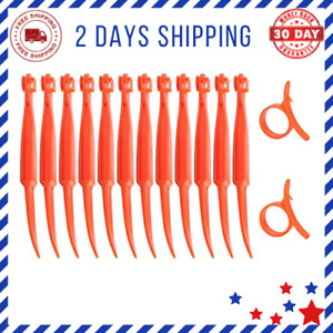 Orange Citrus Peeler Kitchen Safe Plastic Easy Fruit Slicer Cutter 122 Pack
