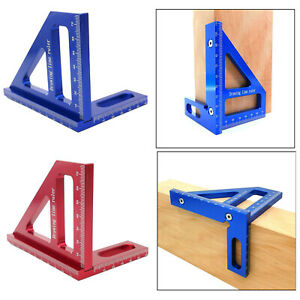 Woodworking Aluminum Alloy Square Angle Ruler Protractor Miter Marking Gauge $18.40