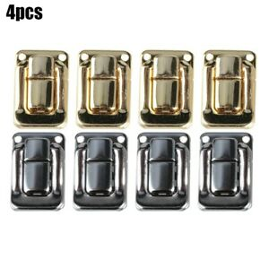 4pcs Box Hasp Lock Catch Latches Jewelry Box Suitcase Buckle Clasp Antique Kit $7.19