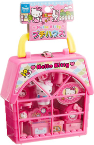 JAPAN Sanrio Hello Kitty Petite House Tea Party Compact Set Play House Pink Toy