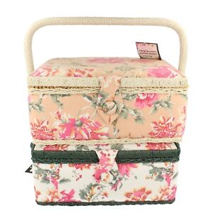 Floral bouquest large sewing basket $28.39