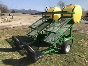 WATER WHEEL TRANSPLANTER WITH 5 TRAYS AND WATER TANK MODEL 1600 BY RAIN FLO $2900.00