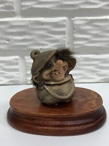 "Original Nyform Norwegian Handmade 3"" Troll Doll in Pot Made in Lithuania"