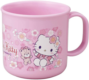 JAPAN SANRIO Hello Kitty Cat Sakura Flower Pink Friend Kitchen Mug Cup 200mL New