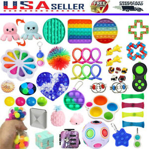 US 1 25pcs Fidget Toys Sensory Tools Bundle Stress Relief Hand Toy Anti Anxiety $14.30