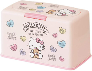 JAPAN Sanrio Hello Kitty Pink Mask Storage up to 60 One touch Open Case Box