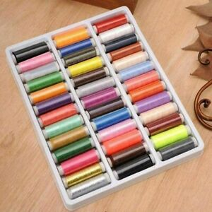 Colorful 39pcs Assorted Polyester Sewing Thread Spools for Manual Embroidery $3.89