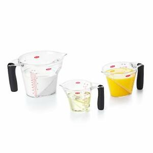 Good Grips 3 Piece Angled Measuring Cup Set BLACK New