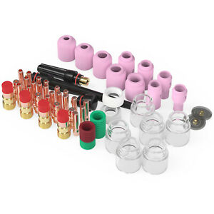 71pcs TIG Welding Torch Stubby Gas Lens #12 Pyrex Glass Cup Kit For WP 17 18 26 $38.99