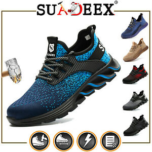US Mens Work Safety Shoes Steel Toe Bulletproof Boots Indestructible Sneakers