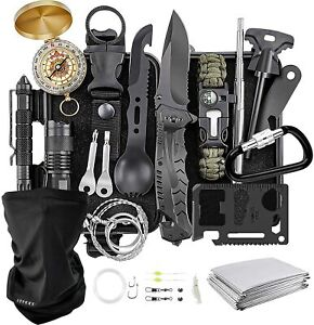 Camping Gear KEEGOP 17 in 1 Survival Gear Tactical Tools for Camping Supplies