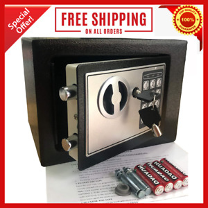 New Digital Home Jewelry Cash Security Safe Box Water Fireproof Electronic Steel $49.98