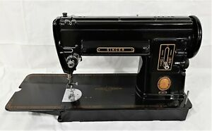 Vintage Singer Sewing Machine 301 Black Long bed with Case and Accessories $535.00