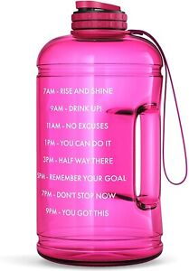 Motivational Water Bottle with Time Marker Hourly Hydration Measurements –44oz
