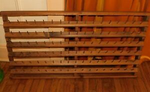 Sewing Spool and Bobbin Wall Organizer Wood Hanging Thread Rack 102 Pegs $59.95