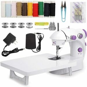 MinRi Mini Sewing Machine with Table Adjustable Double Threads and Sewing Kit $22.95